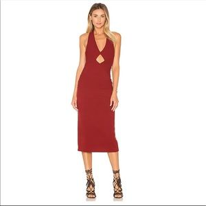 NWT Free People All The Right Angles Midi Dress
